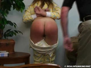Adriana Spanked in DropSeat PJ&039;s-8