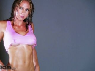 Vicky Star hot and sweaty in gym shoot-1