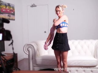Shy blonde casting couch has crazyasm during her audition(porn)-1