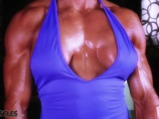 Busty Marina Lopez in blue gym gear-1