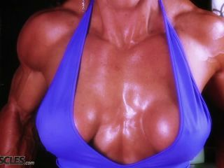 Busty Marina Lopez in blue gym gear-5