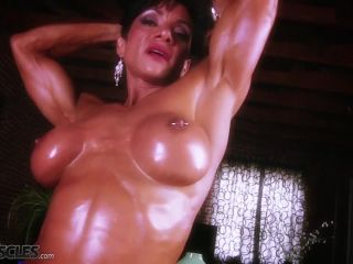 A very buff Marina Lopez flexing her muscles-3