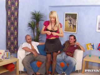Natalli Di Angelo Strips before Oily Threesome-0