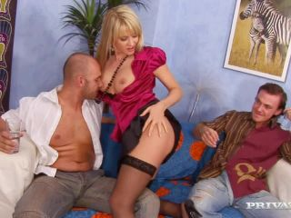 Natalli Di Angelo Strips before Oily Threesome-7