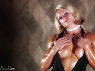 Brigita is a muscle worshiper dream come true-0