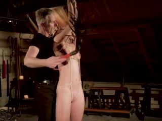 Tied up slave gets humiliated in bdsm sex!?-3
