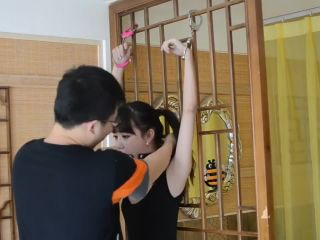 Chinese cute girl handcuffs and ball gag bondage - toys - gangbang xxx asian porn sites-0