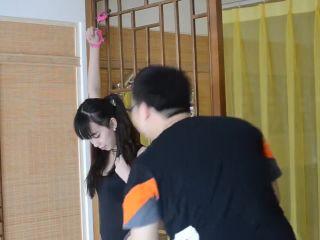Chinese cute girl handcuffs and ball gag bondage - toys - gangbang xxx asian porn sites-2