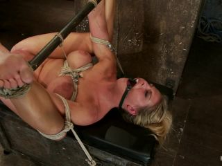 [Kink] Sexy blond bomb shell w/huge tits, is anally penetrated, nipple tormented, made to squirt & cum! - March 1, 2012-6
